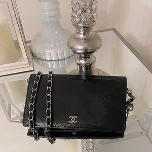❤️ Chanel Quilted long leather WOC ❤️